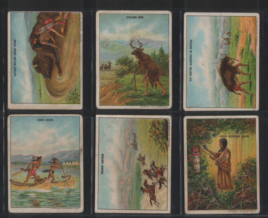 Tobacco Cigarette Cards Set Indian Life In The 1860 S
